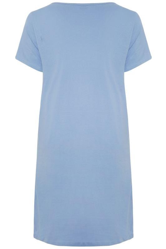 """Nachthemd mit """"Cat Nap""""-Schriftzug - Blau"""