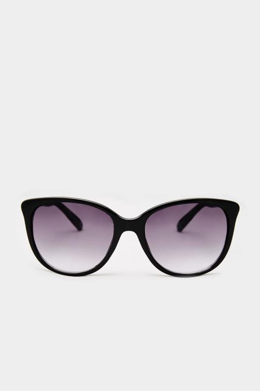 Black Cat-Eye Chain Sunglasses