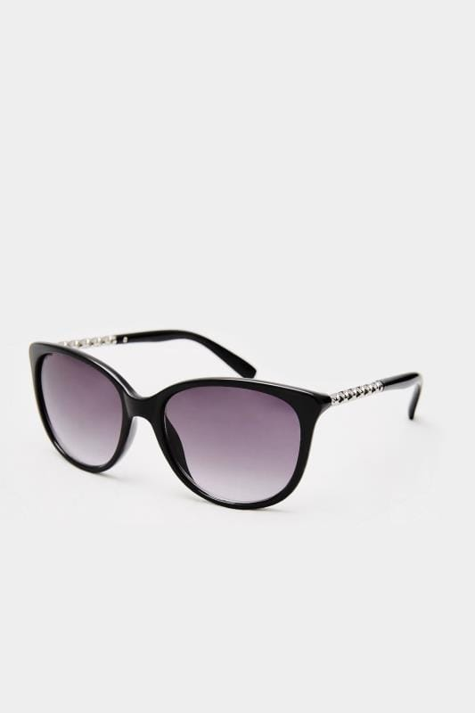 Sunglasses Tallas Grandes Black Cat-Eye Chain Sunglasses