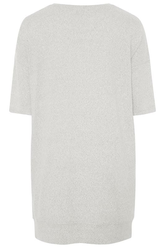 Grey Marl 'Chill Out' Foil Slogan Lounge Top