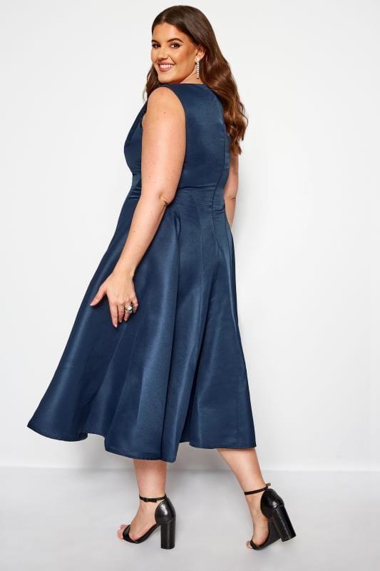 CHI CHI Navy Midi Prom Dress