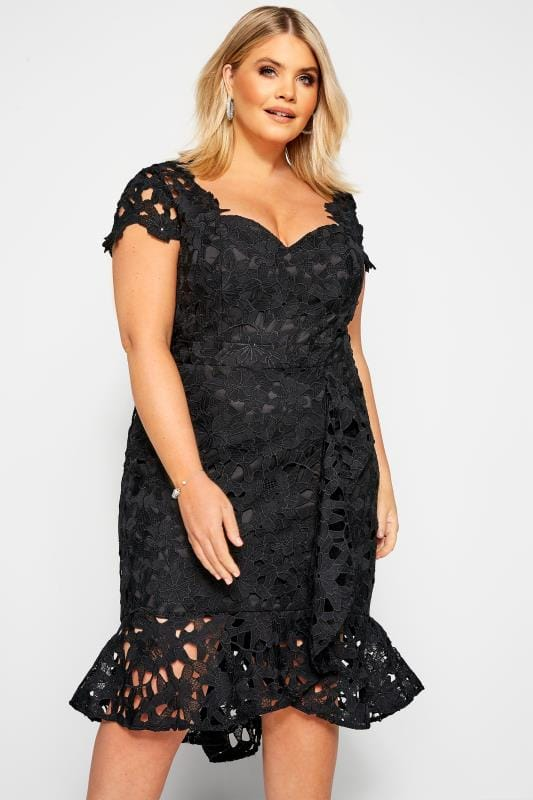 Floral Dresses Grande Taille CHI CHI Black Moana Dress