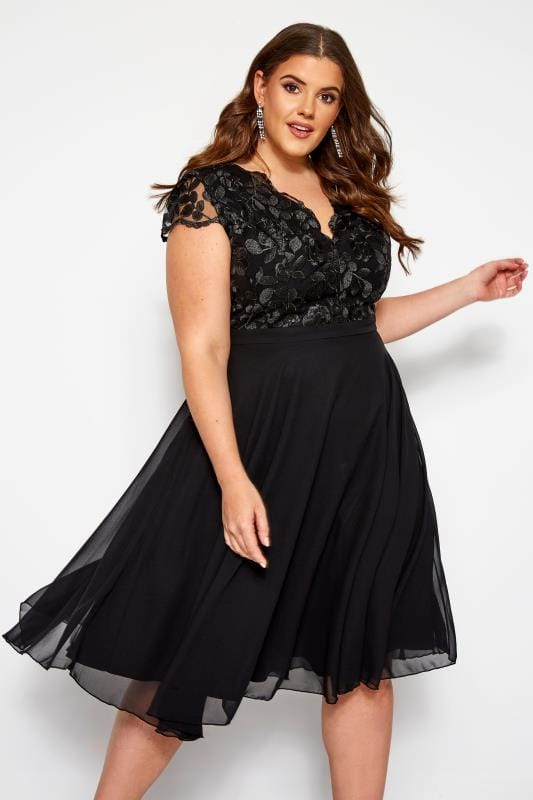 CHI CHI Black Nada Dress