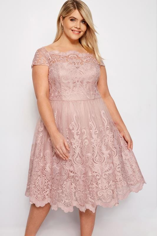 Plus Size Evening Dresses CHI CHI Blush Pink Liviah Dress
