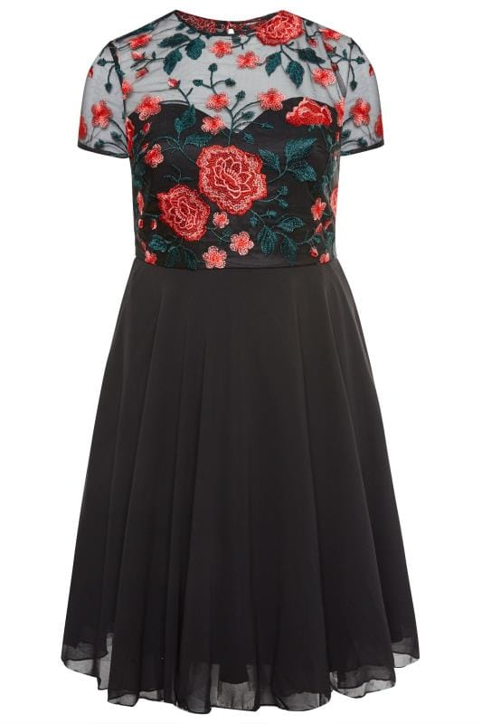 CHI CHI Black Floral Merryn Dress
