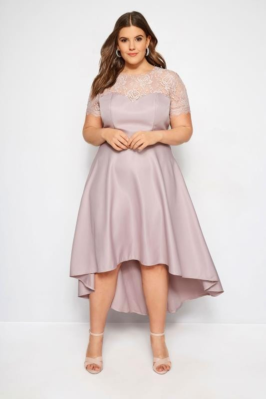 Plus Size Evening Dresses CHI CHI Dusky Pink Jasper Dress