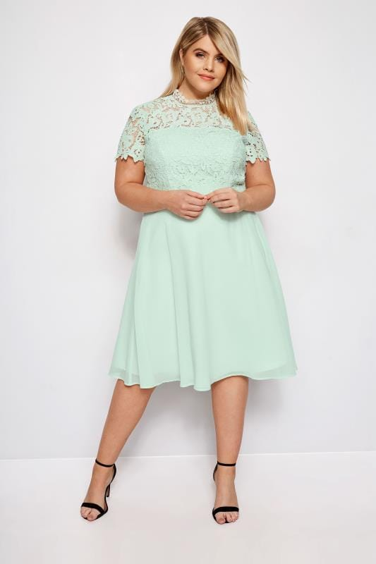 Plus Size Floral Dresses CHI CHI Mint Green Sonny Dress