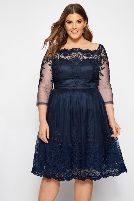 Plus Size Evening Dresses CHI CHI Navy Darin Dress