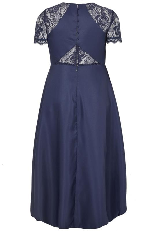 CHI CHI Navy Lace High Low Jasper Dress
