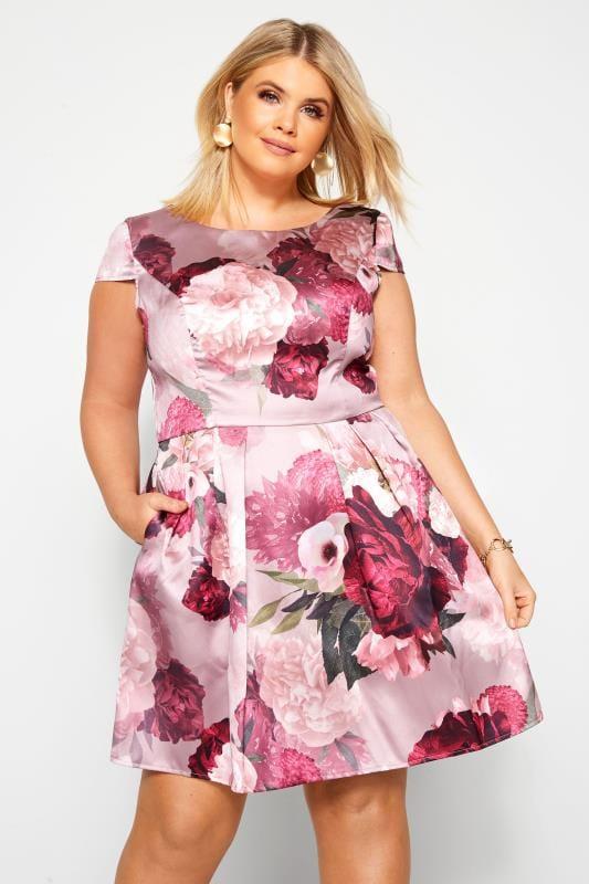 CHI CHI Pink Floral Fille Dress