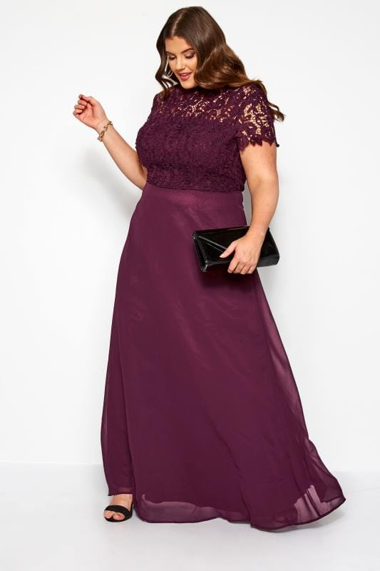 Plus Size Maxi Dresses CHI CHI Purple Charissa Maxi Dress