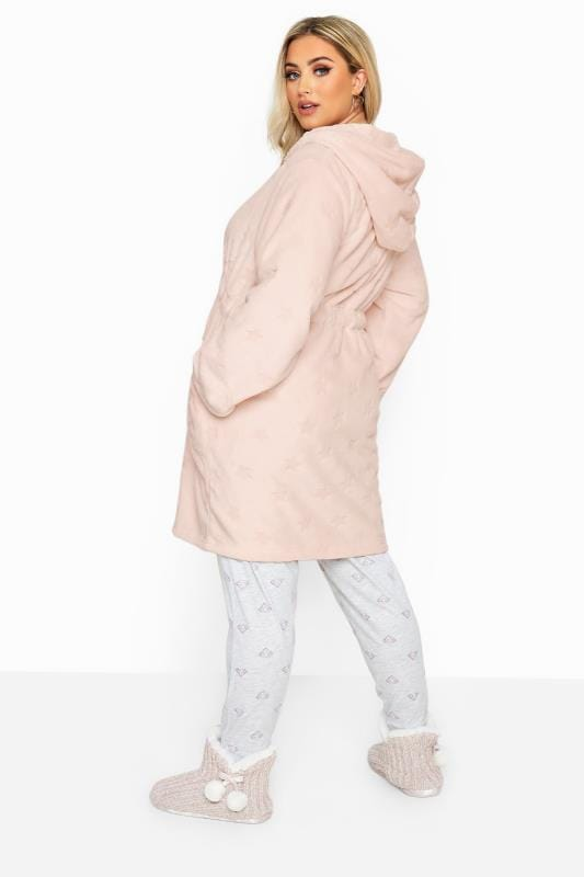 Pink Star Print Zip Dressing Gown_378d.jpg