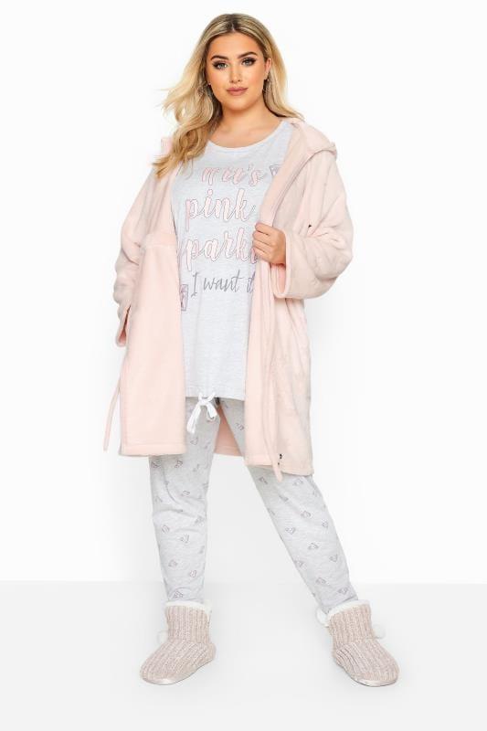 Pink Star Print Zip Dressing Gown_d35f.jpg