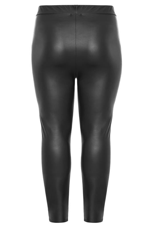 Black Coated Look Leggings