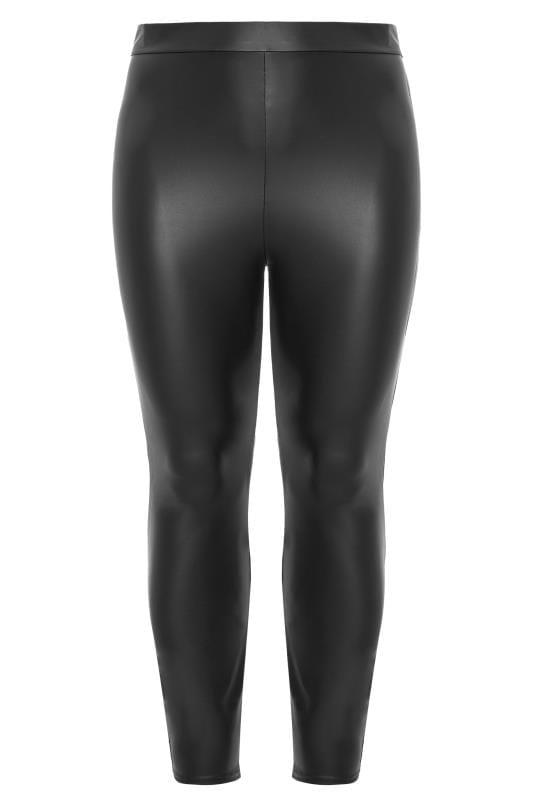 Black Coated Look Leggings