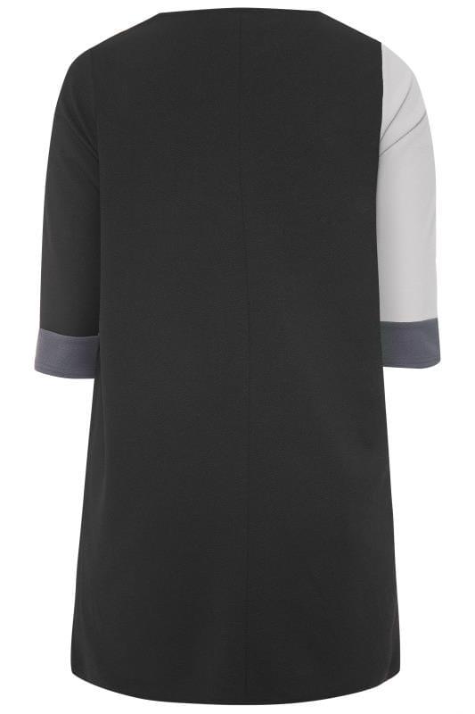 Black Colour Block Shift Dress