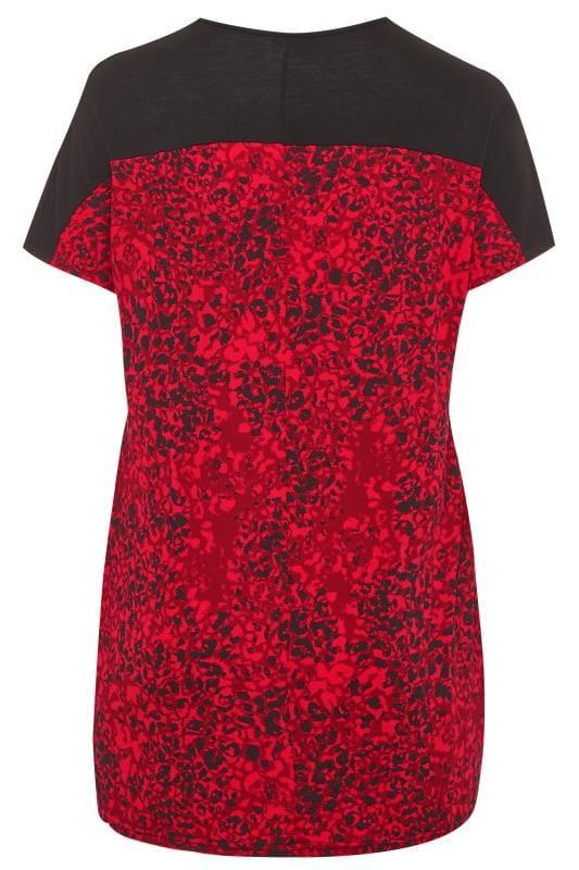 Black & Red Animal Drape Pocket Tunic