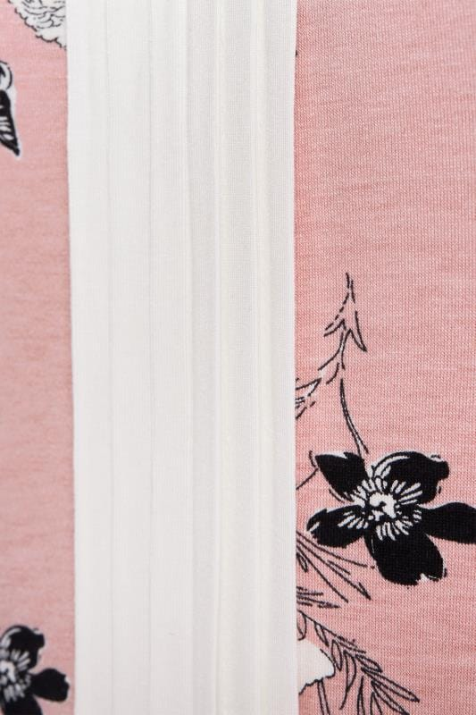 Pink Floral Pintuck Top