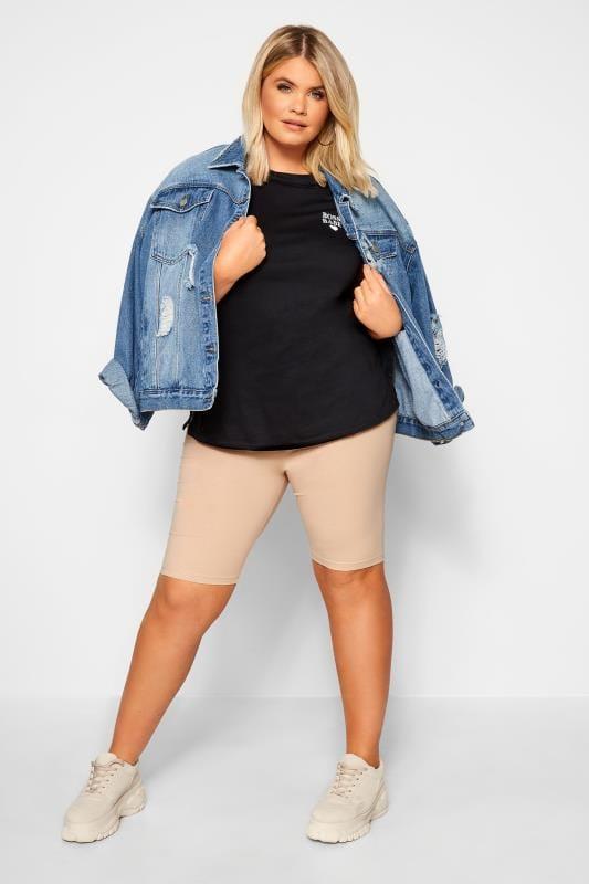 Plus Size Cropped & Short Leggings Nude Legging Shorts
