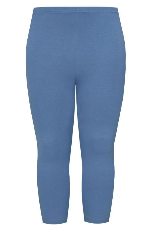 Blue Cropped Leggings