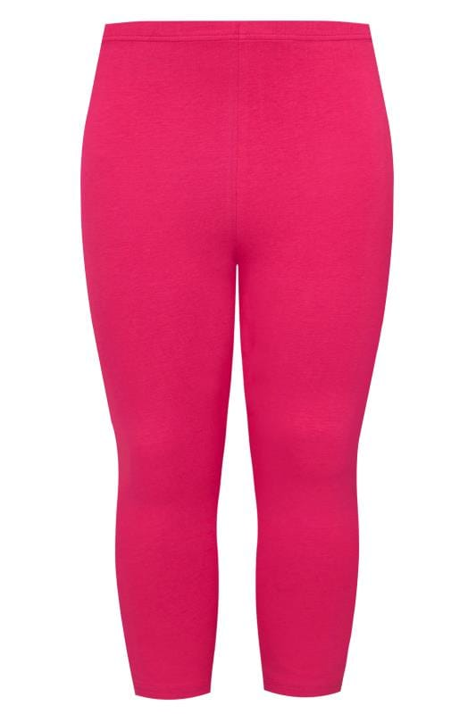 Raspberry Pink Cropped Leggings