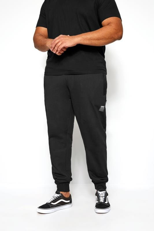 Большие размеры | Joggers CROSSHATCH Black Logo Joggers