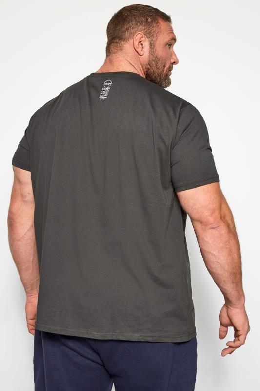 CROSSHATCH Black Printed T-Shirt | BadRhino