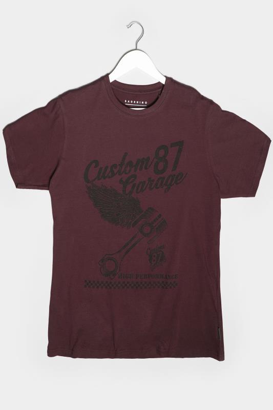 Men's Casual / Every Day BadRhino Burgundy Custom Garage Graphic Print T-Shirt