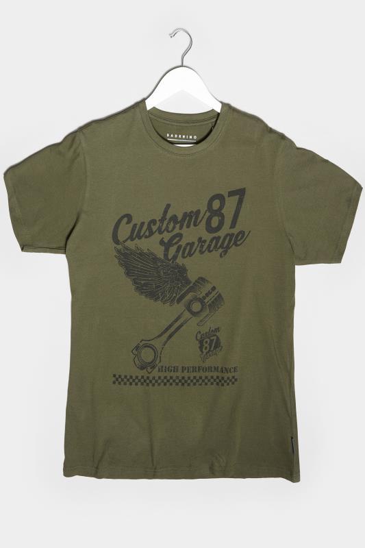 Men's Beauty BadRhino Khaki Custom Garage Graphic Print T-Shirt