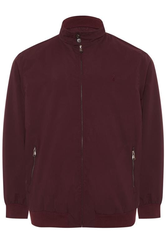 CARABOU Burgundy Zip Through Jacket