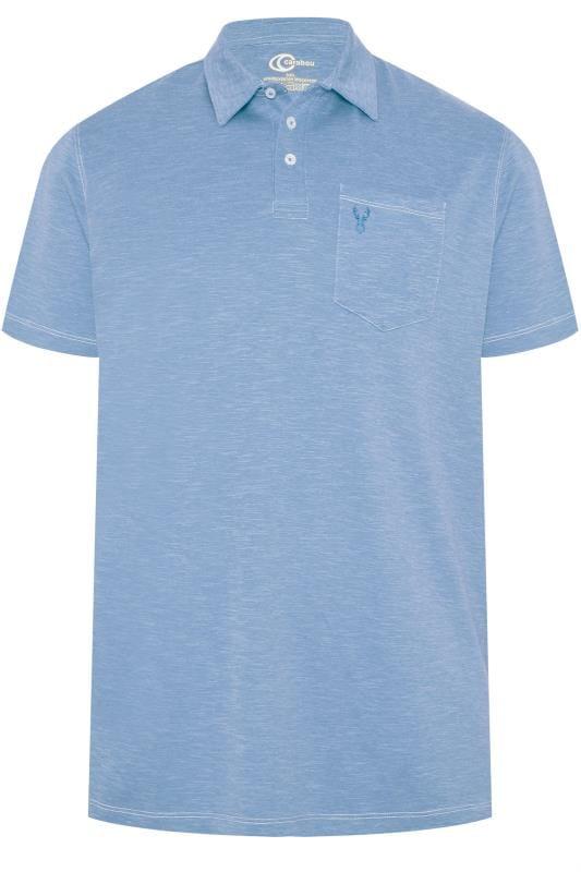 Polo Shirts CARABOU Light Blue Marl Polo Shirt 203506