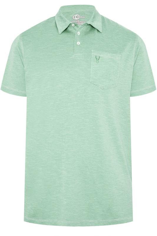 Polo Shirts CARABOU Aqua Green Marl Polo Shirt 203507