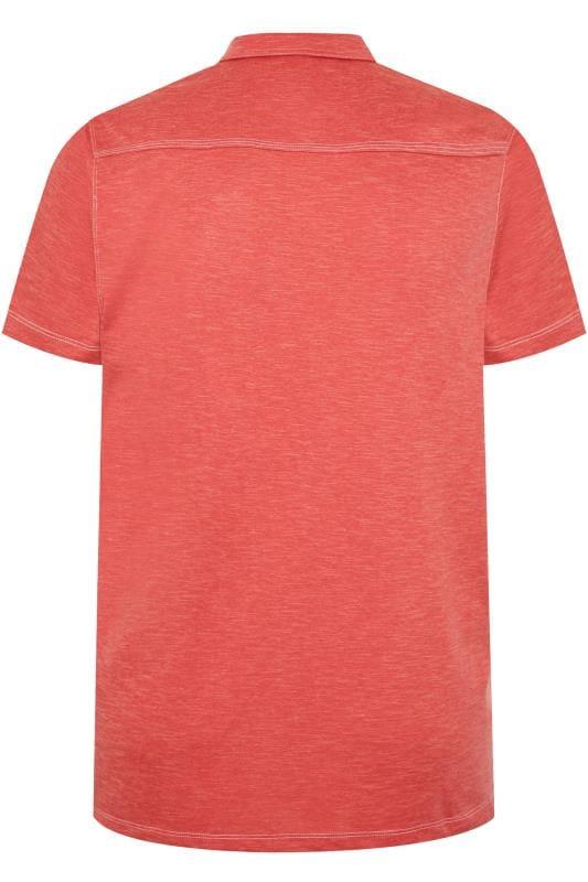 CARABOU Orange Marl Polo Shirt