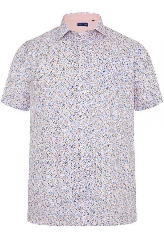 Men's Casual / Every Day CARABOU Pink Floral Print Shirt