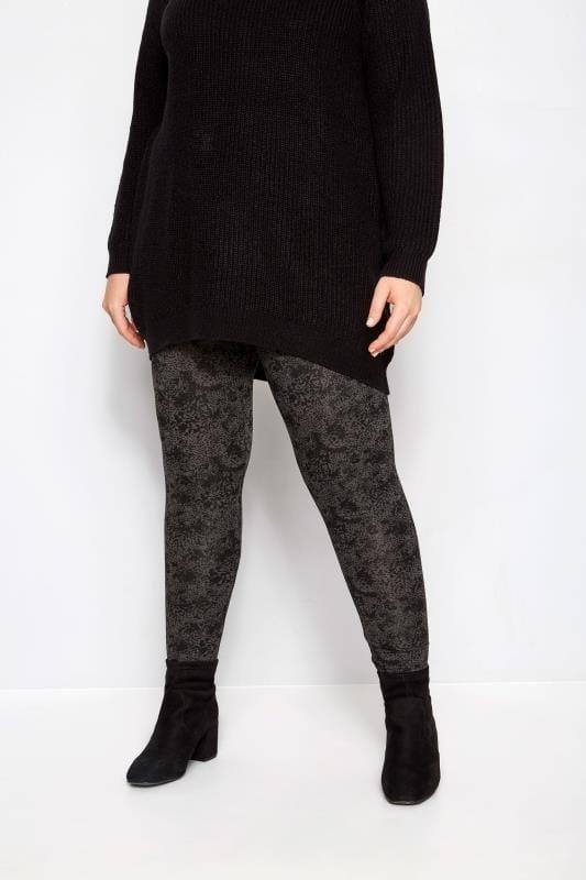Charcoal Grey Animal Leggings