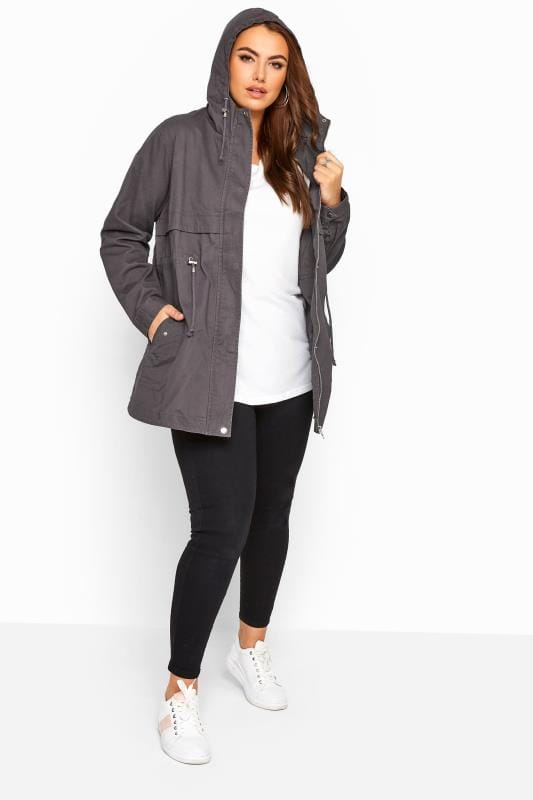 Charcoal Grey Zip Through Jacket
