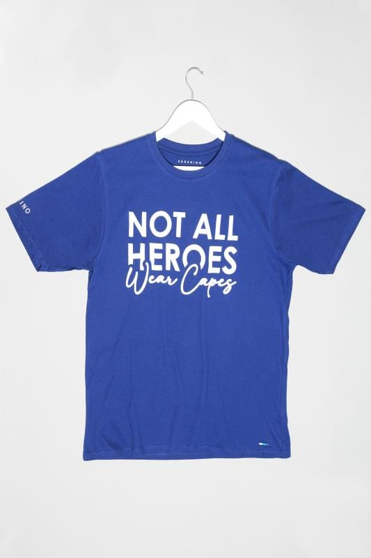 Plus Size Casual / Every Day BadRhino Royal Blue 'Not All Heroes Wear Capes' Unisex NHS Charity T-Shirt