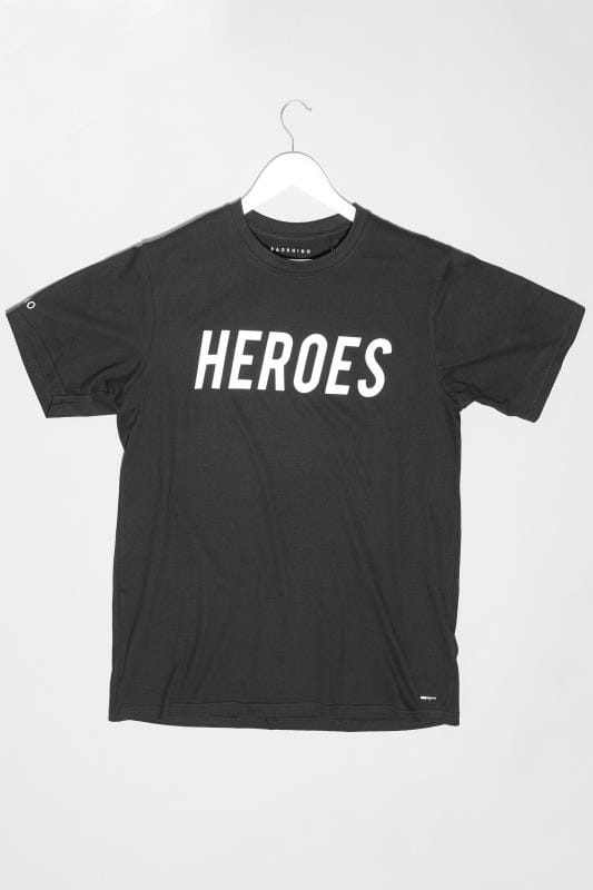 Plus Size Casual / Every Day BadRhino Black 'Heroes' Unisex NHS Charity T-Shirt
