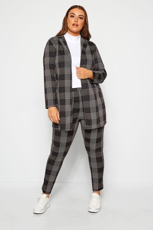 Plus Size Harem Trousers LIMITED COLLECTION Black Check Trousers