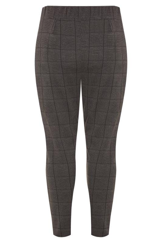 Grey Check Double Pleat Harem Trousers
