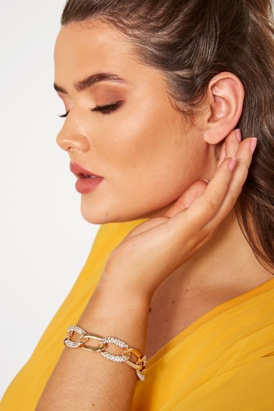 Große Größen Armbänder Gold & Silver Chunky Chain Bracelet