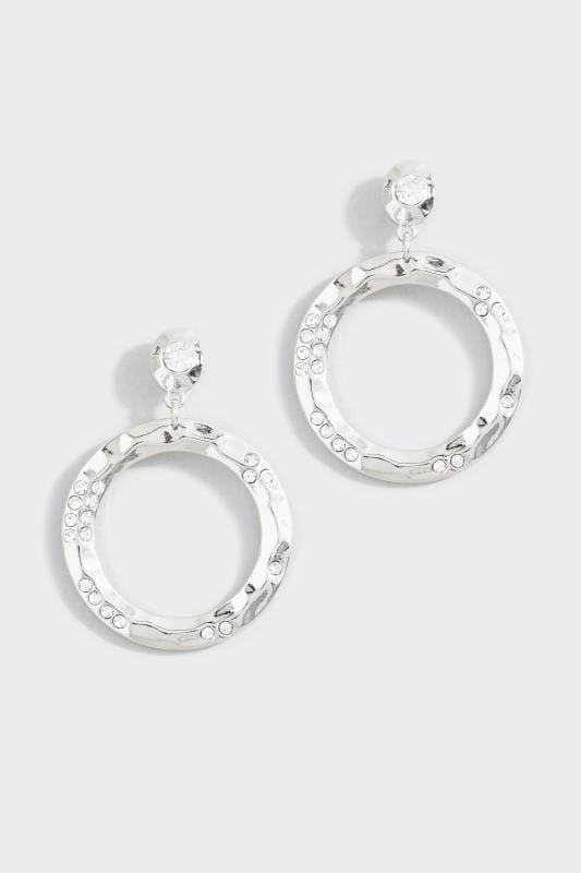 Silver Circle Diamante Drop Earrings_9746.jpg