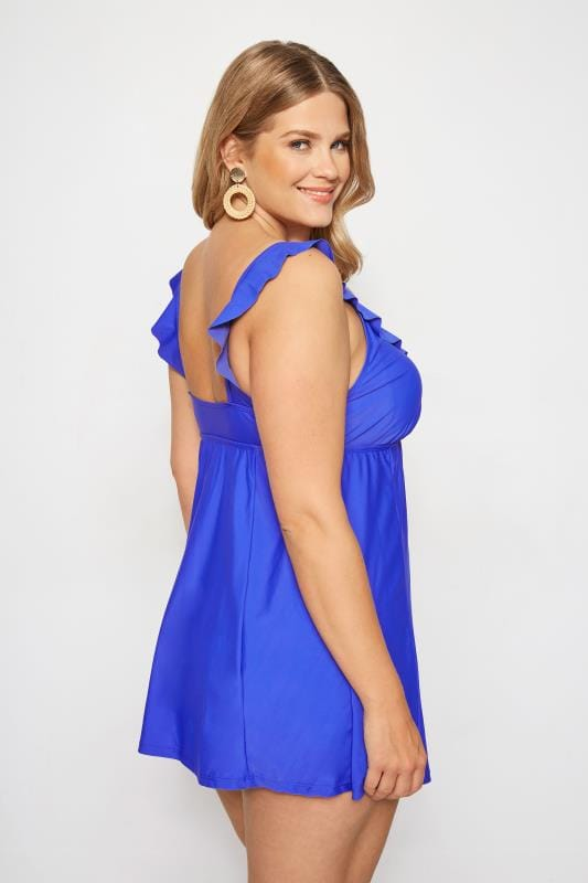 Cobalt Blue Frill Swim Dress