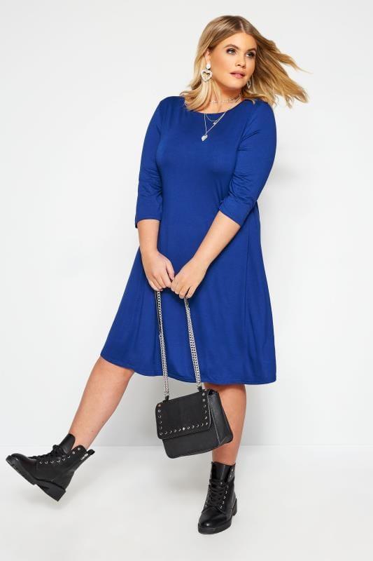 Cobalt Blue Swing Dress