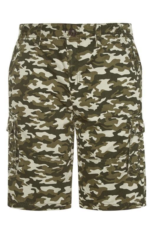 Plus Size Cargo Shorts BadRhino Khaki Camo Cargo Shorts
