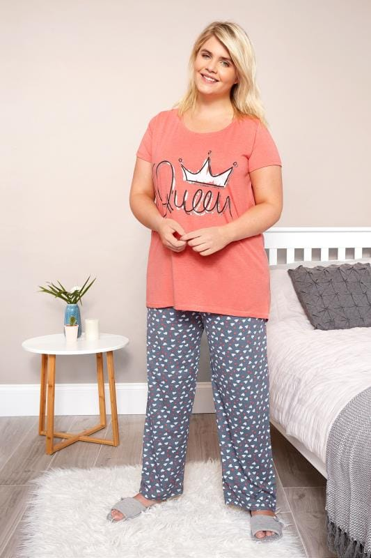 Plus Size Pyjamas Coral 'Queen' Pyjama Set