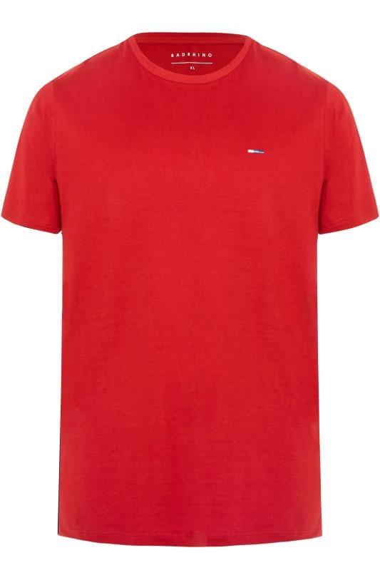 BadRhino Red Crew Neck T-Shirt