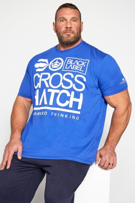 T-Shirts Crosshatch Blue Graphic Print T-Shirt 201548