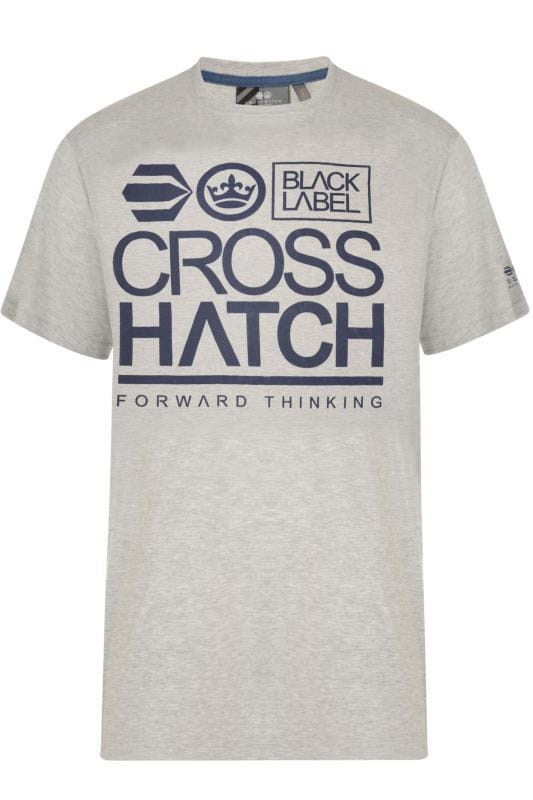 Crosshatch Grey Graphic Print T-Shirt