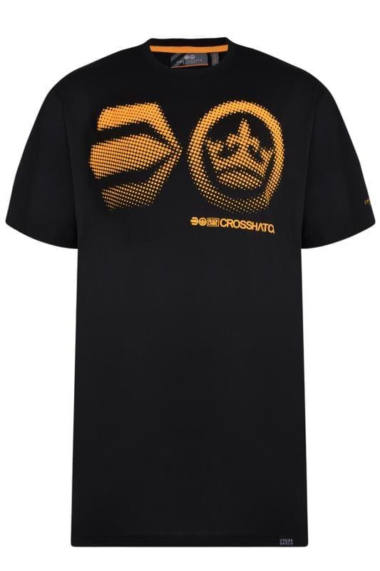T-Shirts CROSSHATCH Black Graphic Print T-Shirt 201551